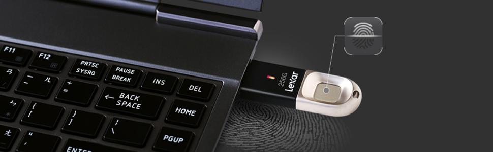 Chiavetta USB con sensore di impronta