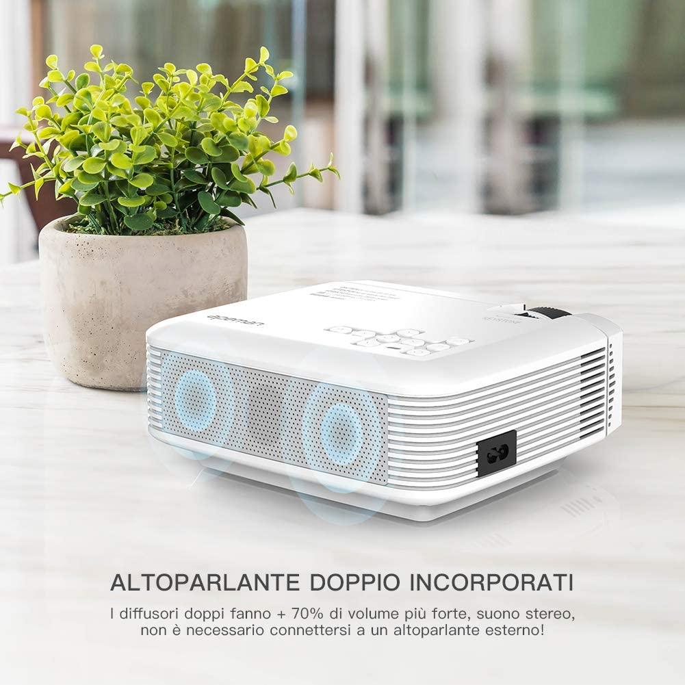 Proiettore APEMAN 4000 con doppio altoparlante stereo