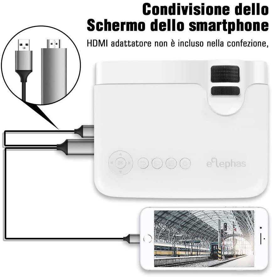 Proiettore Elephas connessione smartphone