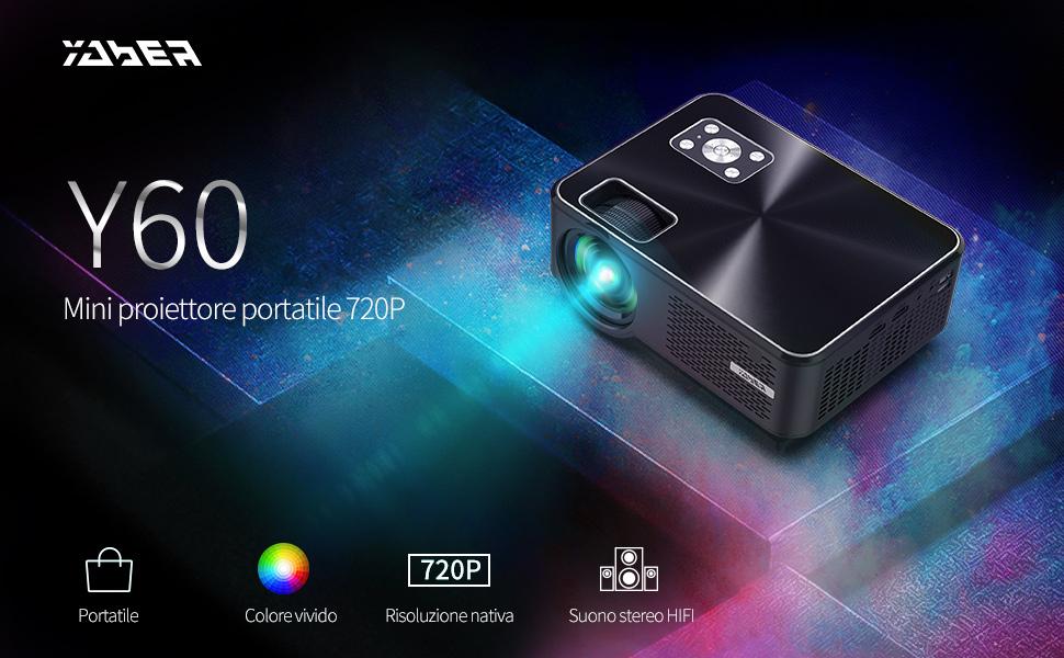 Proiettore YABER con risoluzione nativa di 720p