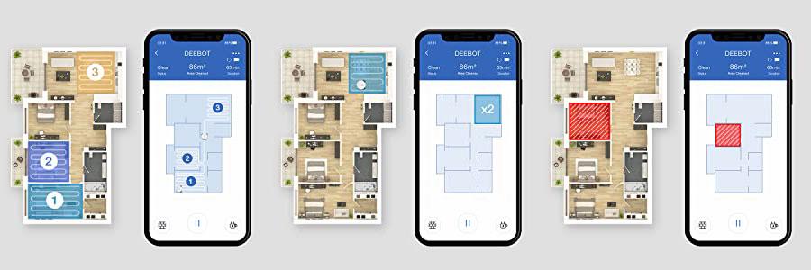 Deebot N8+ applicazione e mappa
